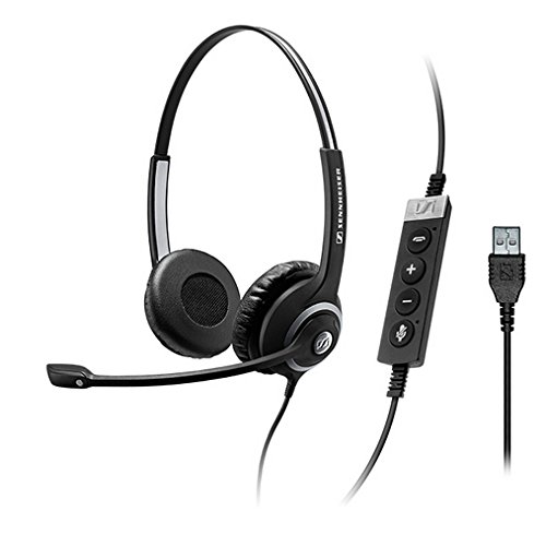 Sennehiser Circle Seriers SC 260 USB CTRL II Wired Double-Sided Headset Connects to Softphone via a USB by Sennheiser Enterprise Solution