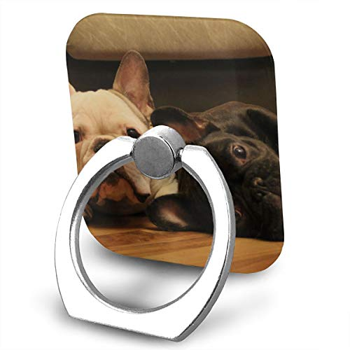 (BLDBZQ Cell Phone Ring Holder Two Bulldog French Finger Grip Stand Holder 360 Degrees Rotation Compatible with iPhone Samsung Phone Case)