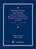 Contract Law and Theory: Selected Provisions: Restatement of Contracts and Uniform Commercial Code, 2013 Edition