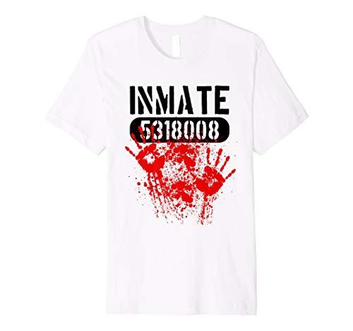 Jailbird Costume Ideas (Bloody Inmate Jailbird Horror Halloween Costume)