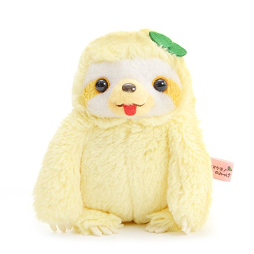 Sloth Plushie Standard Size Stuffed Animal Namakemono No Mikke Nakayoshi Amuse Yellow (Kawaii Cute Animal Anime)