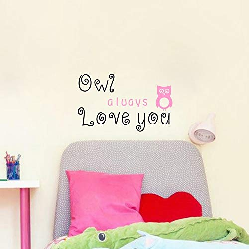 Tonaes Wall Words Sayings Removable Lettering Owl Always Love You Cute Quote Nursery Kids Bedroom Wall Sayings Letters Stickers