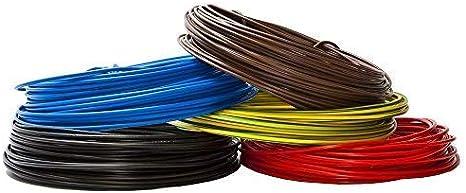 1,5 mm/² H07V-U En PVC Rigide C/âble conducteur de 10 m Couleur/: vert//jaune