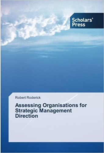 Book Assessing Organisations for Strategic Management Direction