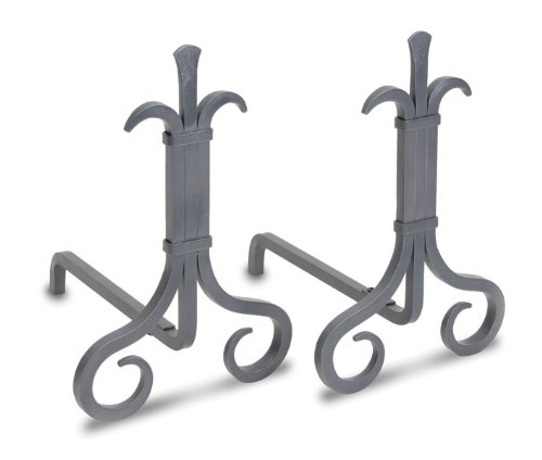 - Pilgrim Home and Hearth 18672 Grand Forge Andirons, Natural Iron, 11