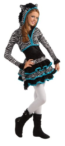 [Rubie's Drama Queens Tween Zebra Costume - Tween Small (0- 2)] (Costumes For Drama)