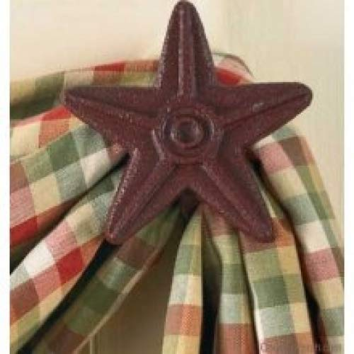 Park Designs Cast Star Curtain Hooks, Red, Includes 2 in Set from Park Designs