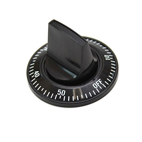 Jenn-Air WY703663 Range Clock Timer Knob (Black) Genuine Original Equipment Manufacturer (OEM) part for Jenn-Air, Black - Black Timer Knob