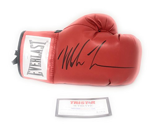Mike Tyson Signed Autograph Boxing Glove In Black Tristar Authentic - Authentic Autographs Sports