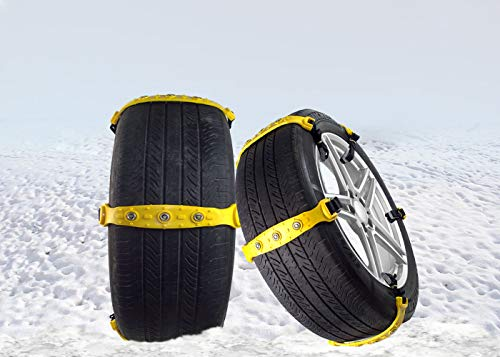Zento Deals Premium Quality Car Snow Chains Durable 10 Pieces All Season and Terrain Anti-Skid Car, SUV, and Pick Up Tire Chains