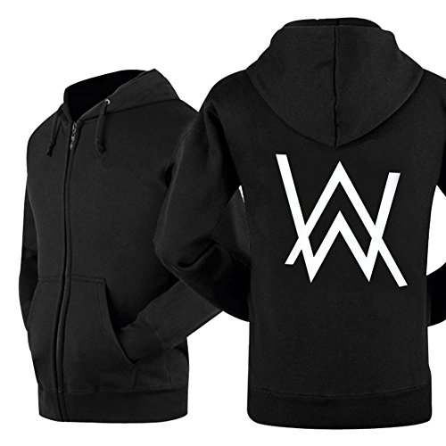 Kigcos Alan Walker Logo Unisex Zip Hoodies Cosplay Costome