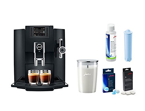 Jura E8 Coffee & Beverage Center Bundle Set With Milk Container And Cleaners