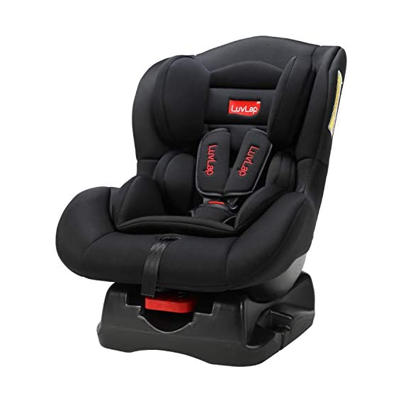 LuvLap Joy Convertible Car Seat for Baby & kids from 0 Months to 4 Years (Black)