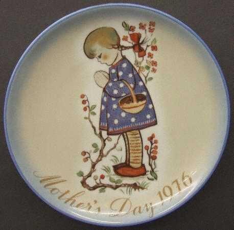 Schmid Hummel ** 1976 Mother's Day Plate - Devotion For Mother ** - Plate Hummel 1976
