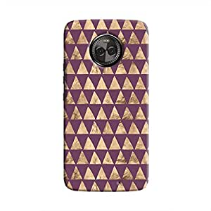 Cover It Up - Brown Purple Triangle Tile Moto X4 Hard Case