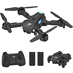 Jettime JT63 Mini Pocket Drone with 3D Flips and Rolls,Headless Mode,Altitude Hold,2.4Ghz Remote Control,2 Modular…