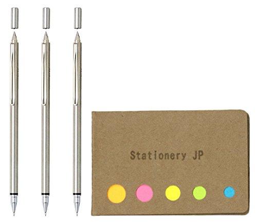 Pilot Birdy Switch Multi Pen, Ballpoint Pen 0.7mm Black Ink + Mechanical Pencil 0.5 mm, 3-pack, Sticky Notes Value Set by Stationery JP (Image #7)