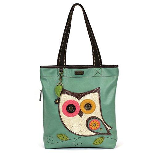 Chala Handbag Everyday Tote (Owl Teal) -