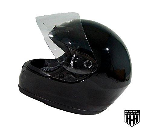 Street Helmet Gloss - Hard Head Helmets Full Face Helmet DOT Approved for Street Bike, Motorcycle, Chopper, UTV, ATV, Dirtbike & Go-kart (Medium, Gloss Black)