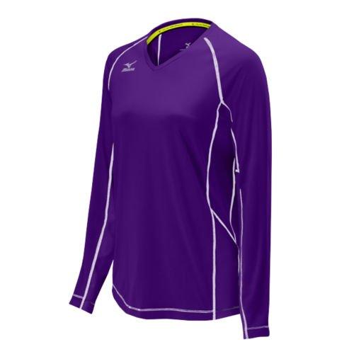 Mizuno Elite 9 Newport Long Sleeve Jersey, Purple, X-Large