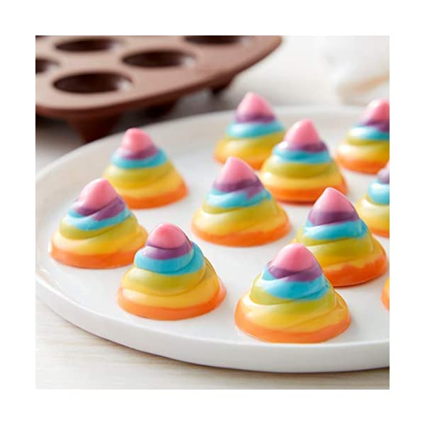 ROSANNA PANSINO by Wilton 12-Cavity Silicone Swirl Candy Molds, Multi-pack of 2 7