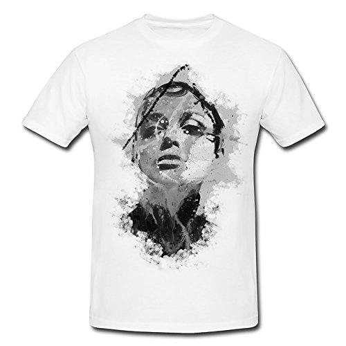 Keira Knightley II T-Shirt Herren, weiß mit Aufdruck