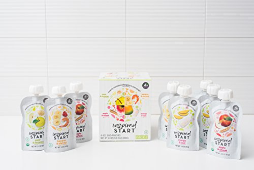 Early Allergen Introduction Baby Food: Inspired Start Pack 2, 3 oz. (Pack of 8 baby food pouches) - Non-GMO, include wheat, sesame, shrimp and cod in baby's diet by Inspired Start (Image #4)