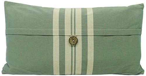 Newport Nautical Throw (Newport Layton Home Fashions Boathouse Stripe Pillow with Zipper Closure, Feather Insert and Button Accent, 14 by 20-Inch, Teal)
