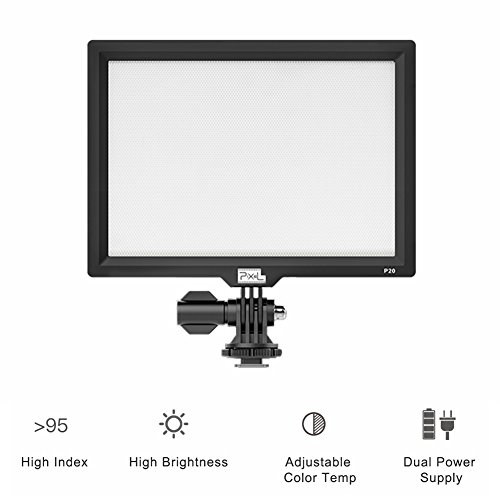 PIXEL Dimmable LED Light Panel,3200K-5600K, CRI95, LCD display screen for Canon Nikon Camera DV Camcorder - Dv 7 Laptop Lcd