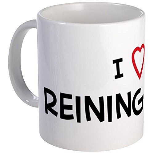 CafePress - I Love reining Horse Mug - Unique Coffee Mug, Coffee Cup