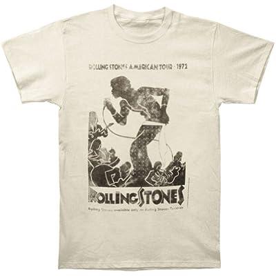 Rolling Stones Men's Vintage Tour Poster Vintage T-shirt Ivory