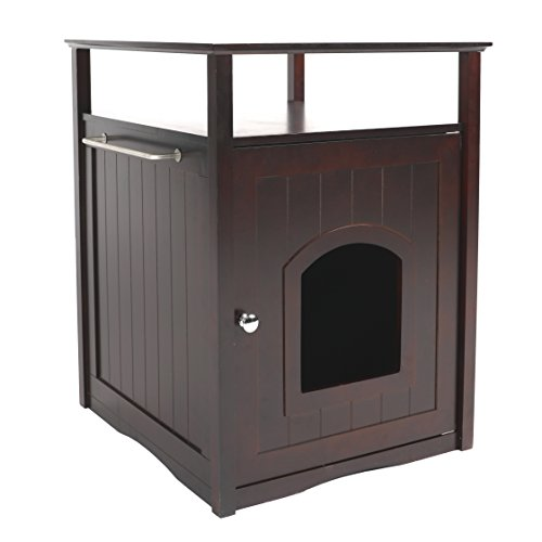 Merry Pet Cat Washroom/Night Stand Pet House, Espresso
