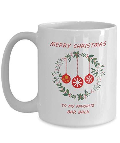 Bar Back Coffee Mug - novelty gifts - holiday mugs - hot cocoa mugs ()