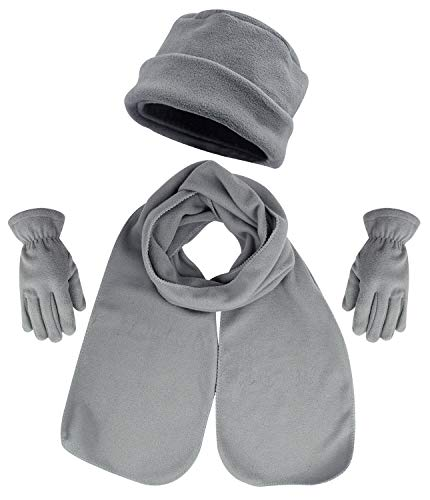 Bienvenu 3 Piece Hat, Scarf & Glove Women's Winter Set,Grey