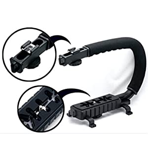 Yesido. Professional Video Camera Handheld C-Type Camera Bracket Stabilizer Grip for DSLR SLR Camera Mini DV Camcorder