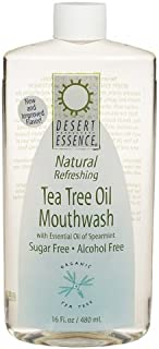 product image for Tea Tree Oil Mouthwash w/Essential Oil of Spearmint 16 fl. oz. (480 ml) (2-Pack)
