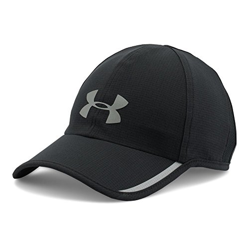 Under Armour Men's Shadow ArmourVent Cap, Black (001)/Silver, One Size Shadow Baseball Cap Hat