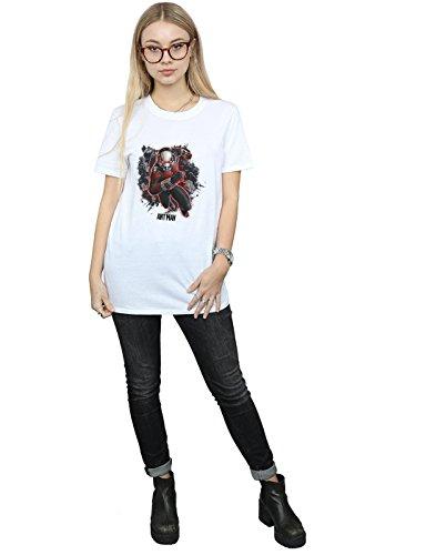 Mujer Running Novio Fit Blanco Ant Camiseta Marvel man Ants Del dqTvdIfw
