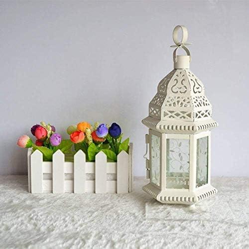 クリスマスの蝋燭ホールダーの鉄の蝋燭ホールダーの防風の燭台の結婚式の燭台、
