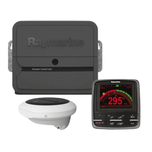 (RAYMARINE RAY-T70161 / EV-400 p70 Sailboat Pack, no Drive, MFG# T70161, Evolution Autopilot system consisting of ACU400 processor, p70 control head, EV-1 sensor, and EV-1 cabling kit. Drive unit not included.)