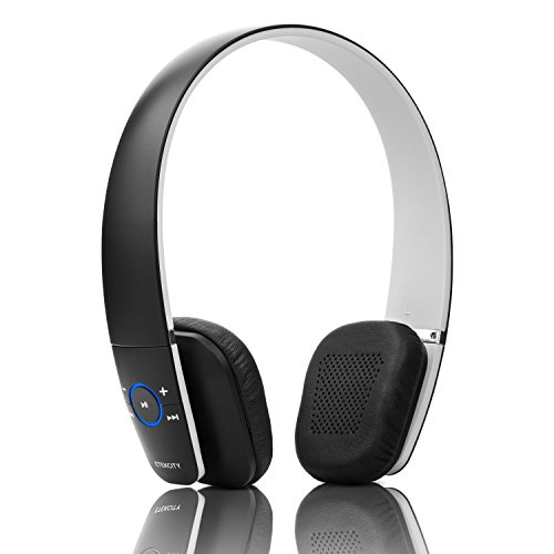 Etekcity RoverBeats F1 Over-Ear Wireless Bluetooth Headphones 4.0+EDR HI-FI Stereo on-ear Headset with Microphone (Black)