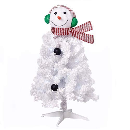 (Holiday Time 3ft Snowman Artificial Christmas Tree - White)