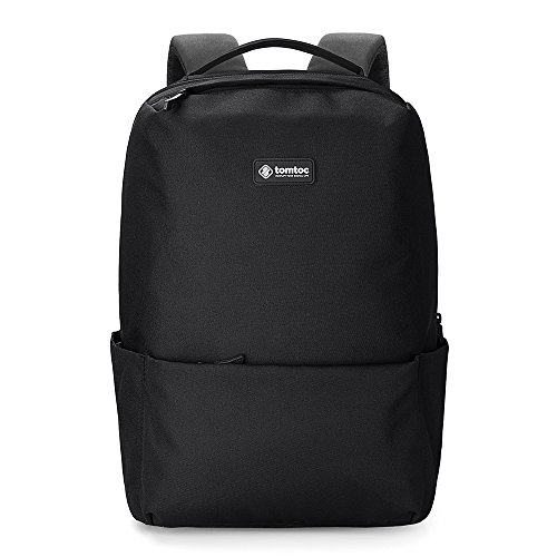 Laptop Backpack, tomtoc 15.6 inch Lightweight Daypack 22L, Anti-Theft School Camping Travel Bag, Outdoor Backpack for Men Women, Black - PowerPortal/BottomArmor Patent (Dual Compartment Drop Safe)