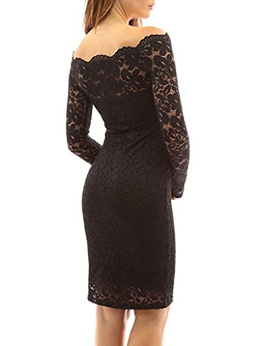 2 Lace gonna Floral Dresses Party nero Wedding Slim Cocktail Women mini Tkiames abito per Dress Elegante wE5Ztq