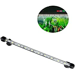 DJLOOKK LED Aquarium Light, Amphibious Led Fish Tank Lighting,A Economie D'energie, 15 LEDs, No Noise Suitable for All Kinds of Fish Tanks,L
