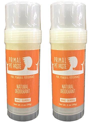 Primal Pit Paste Natural Deodorant Orange Creamsicle Pack of 2