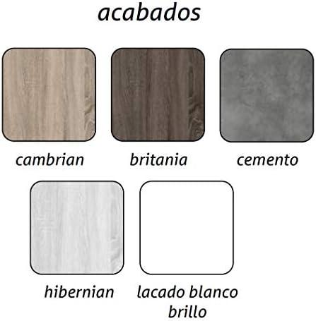 Aquore Mueble de Baño con Lavabo y Espejo | Mueble Baño Modelo Balton 2 Cajones Suspendido | Muebles de Baño | Diferentes Acabados Color | Varias Medidas (Hibernian, 80 cm): Amazon.es: Hogar