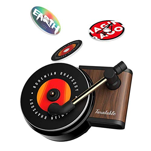Car Air Vent Fragrance Diffuser, Record Player Car Air Freshener Holder Container, Phonograph Turntable Car Air Outlet Perfume Aroma Clip Diffuser Decor
