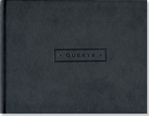 Classic Black Guest Book - Guest Home For Vacation Book