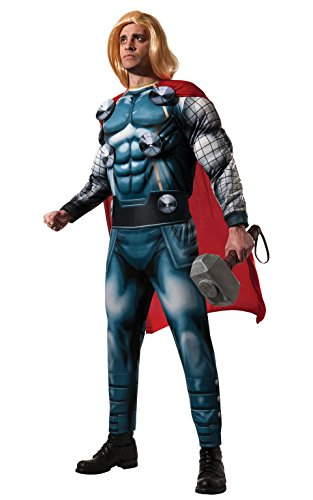 Marvel Adult Costumes (Rubie's Costume Men's Marvel Classic Adult Deluxe Thor Costume, Multi, Standard)